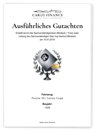 Carus Finance Gutachten Cover