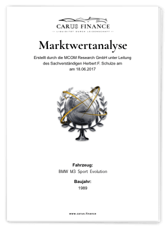 Carus Finance Marktwertanalyse Cover